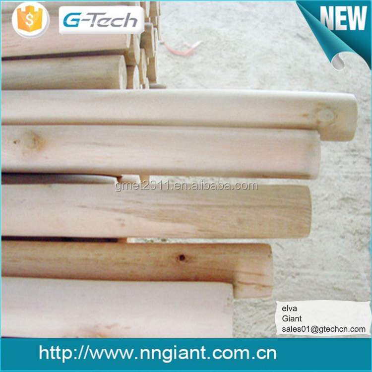 natural wooden poles for plastic broom