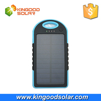 Hot Selling 5000mah solar charger waterproof solar power bank for mobile phones