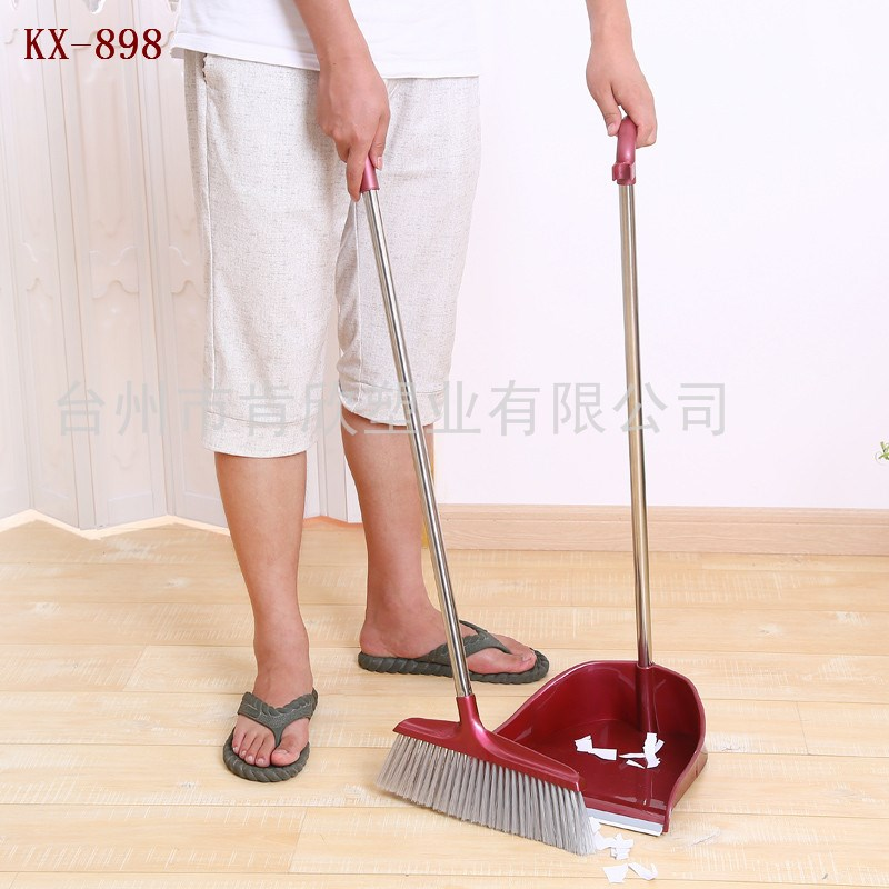 New design hot sell stainless steel plastic sweeping broom and dustpan KX-898