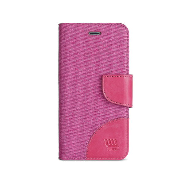 New Public Canvas Flip Case for Iphone 7, Book Stand Leather Cover