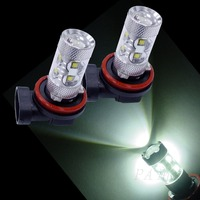 Supter Bright 50W H8 10 LED Acura Chevrolet LENS LED For Auto Car Headlight Fog Light Lamp Bulb Whie