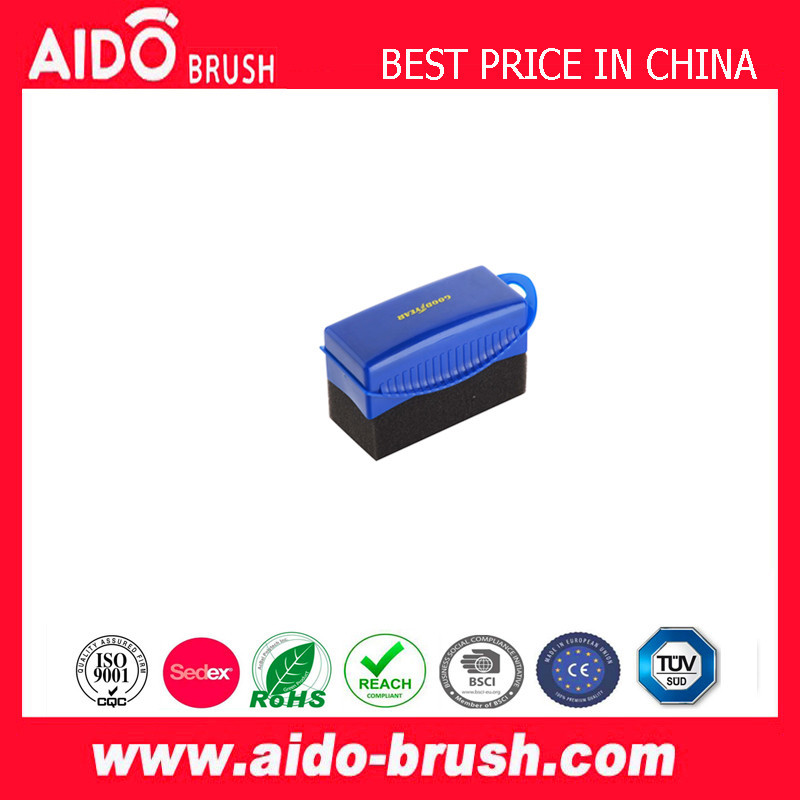 Contour Tire Wipe Applicator Contoured shape handle shapes foam to the tire surface Dashboard shining sponge