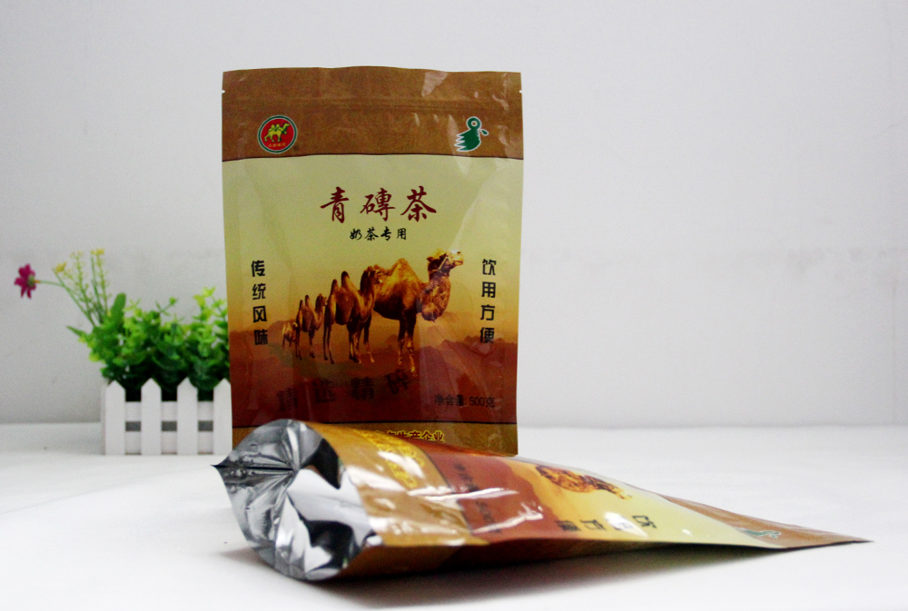 Stand up foil zipper tea leaf plastic bags