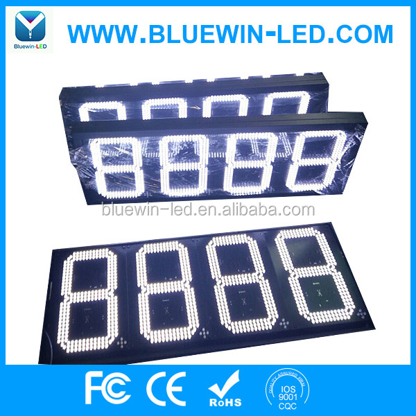 solar sign lights US Popular LED Gas station price sign 8 10 12 16 inches digits LED fuel price sign red alibaba cn