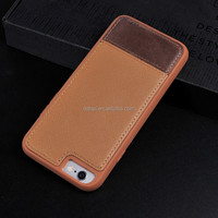 mix leather color for iphone 6 case, bumper leather mobile phone case, matte pc case