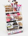 Acrylic Cosmetics Organizer Box with 5 Drawers And Top Tray Acrylic Make up cube