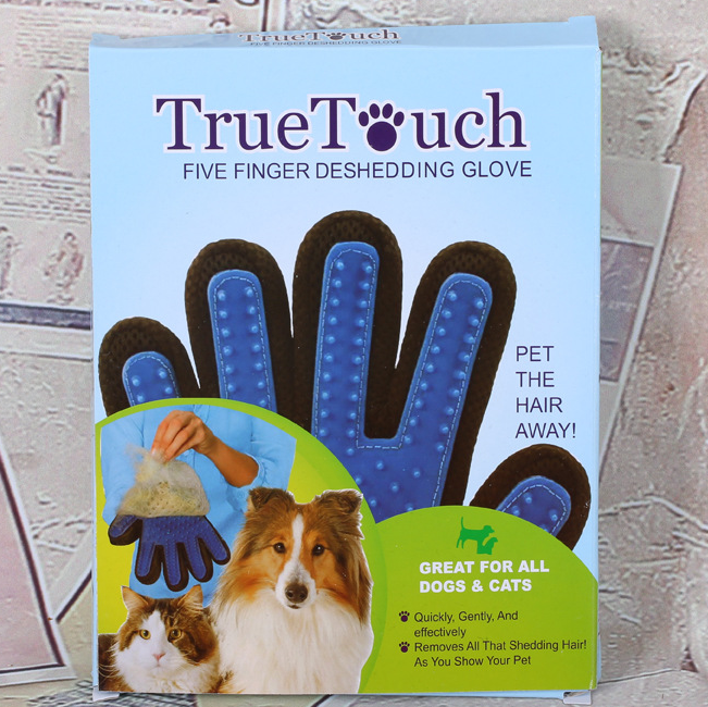 2016 True Touch Five Finger deshedding glove dog grooming brush pet grooming glove