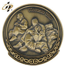 3D antique bronze zinc alloy medallion custom army coin for souvenir