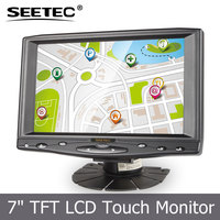 7 Inch TFT LCD Color Screen 16:9 hd car dvr monitor DVD VCD VCR Monitor with 2 Video Input ST619