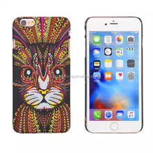 King of the wind cat pattern with noctilucent back phone case for iphone 6