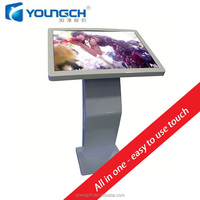 Bevel screen mounted pc interactive machine all in one integrated solution 32'' school touch screen kiosk