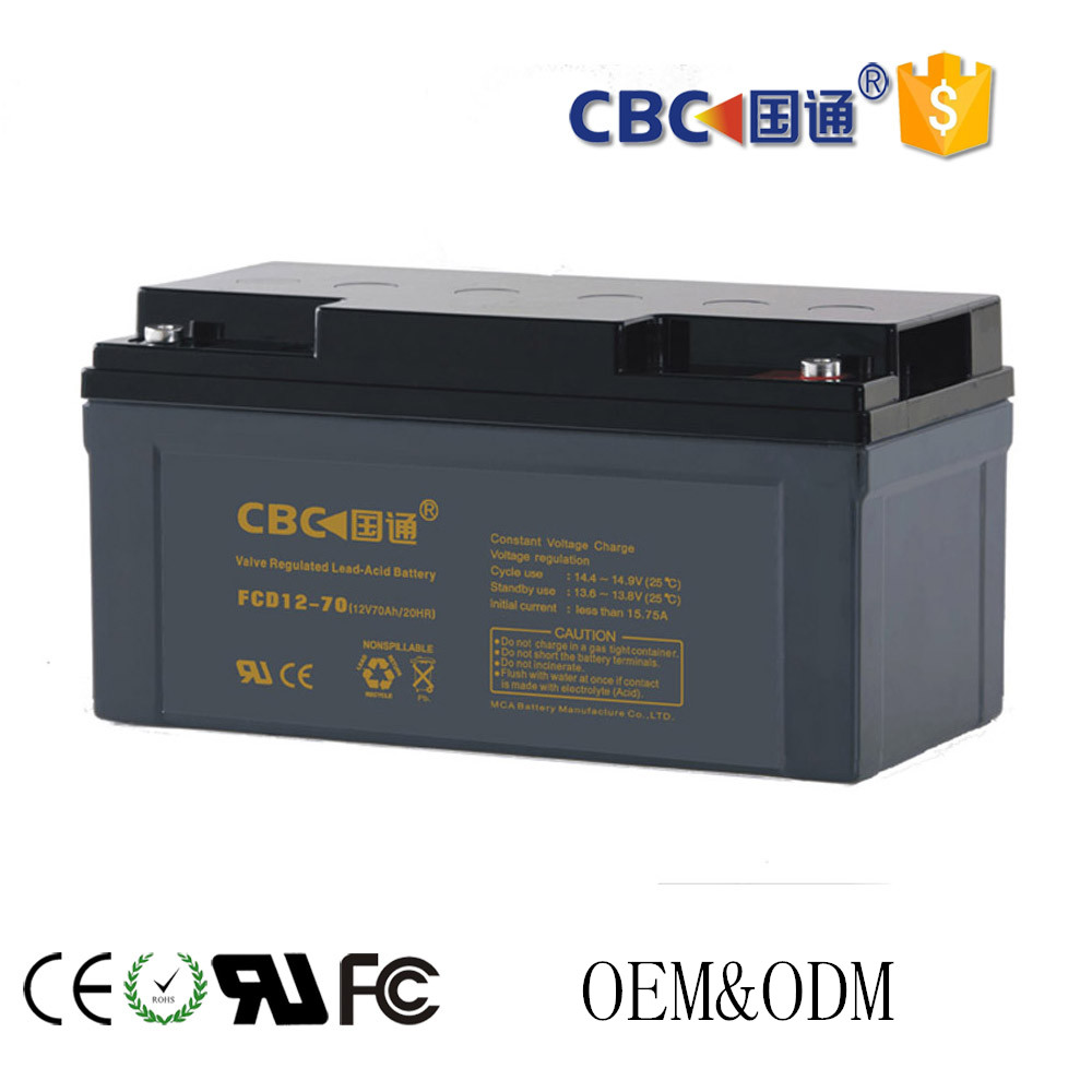 wholesale for solar system deep cycle lead acid battery 12V70AH