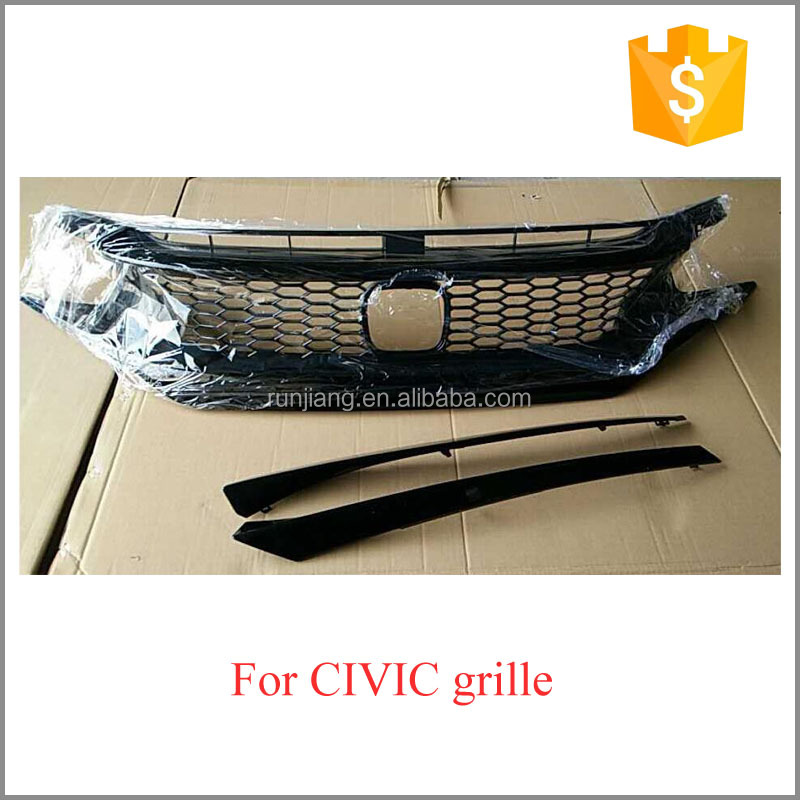 HOT SALE !! 2016 2017 Front Grille With Emblem for Honda Civic