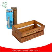 Original Design Zakka Retro Crate Shaped Wooden Sundries Storage Box For Products Display