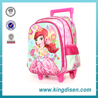 2016 Popular 2 wheels small trolley school bags for girls