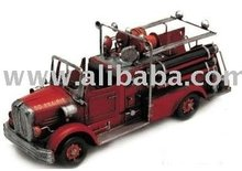 Red Fire Engine-antique model car