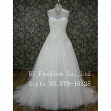 Fashionable Exquisite wedding dress Beading Crystal bown gown Style bride dress