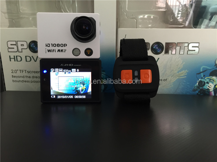 2015 new mode waterproof full HD1080P wrist remote control AT300 wifi camera