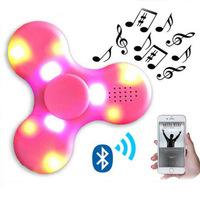 Creative Bluetooth Speaker Fidget Spinner fingertip Gyro LED Hand Fidget Spinner