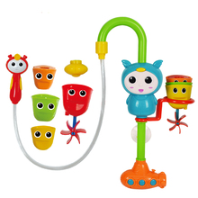 plastic funny baby bath pipe spray water toys