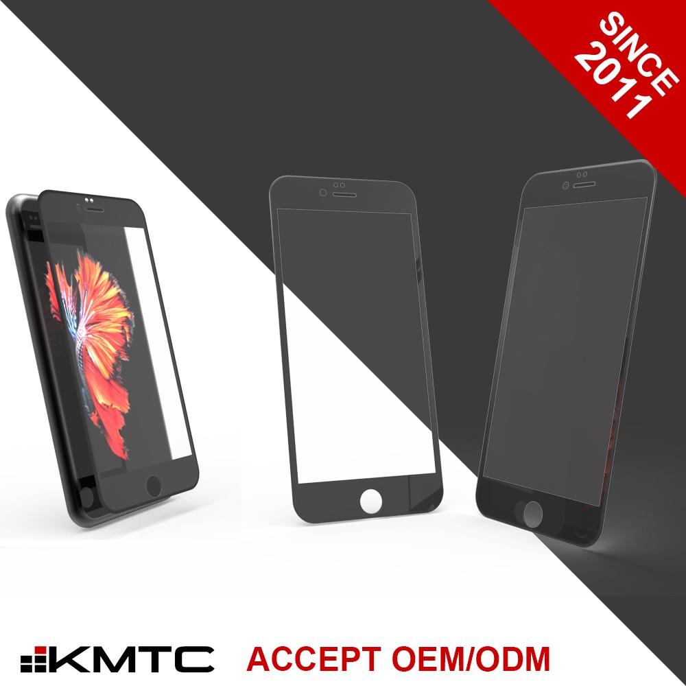 KMTC 3D Round-edge 9H Hardness Printed Screen Protector For Iphone 6 6+