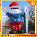 6m tall Hawaii style inflatable santa claus for outdoor Xmas