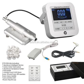 New arriaval makeup eyebrow micropigmentation and meso handpiece device kit