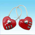 Lover's present ,heart shape cable lock