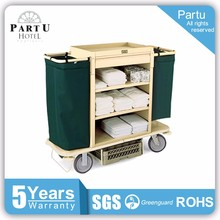 Partu Lighter Plastic Hotel Housekeeping Cleaning Maid Carts