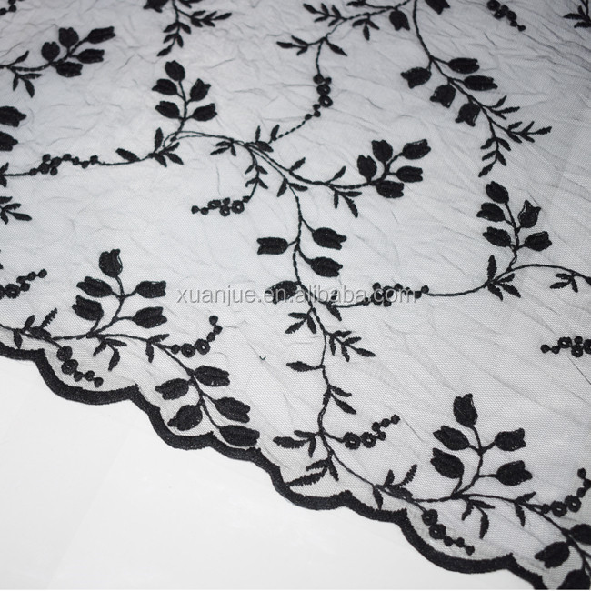 Women garment accessories elastic lace fabric embroidery