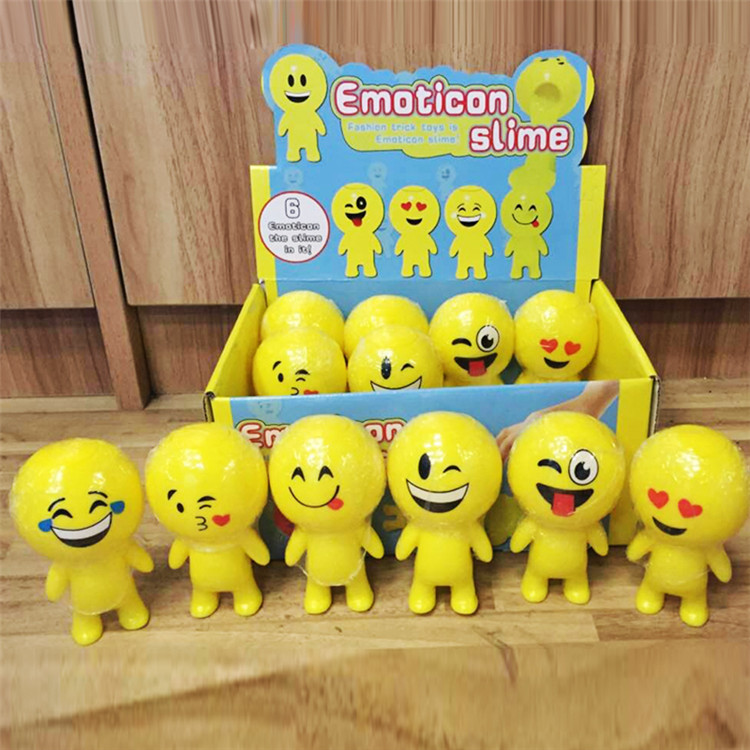 Favorable price exquisite elastic slime, interesting cute emoticon slime toy