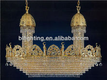 Classic fancy gold crystal camping decorative light