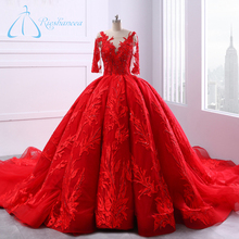 Gorgeous Red Ball Gown Wedding Dresses Plus Size