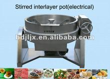 large stainless steel boiling pan