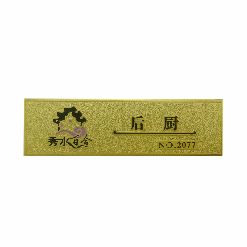 factory price wholesale custom writable name badge name tag name plaque
