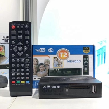 JUNUO HD SD ready mini DVB T2 set top box in stock for promotion