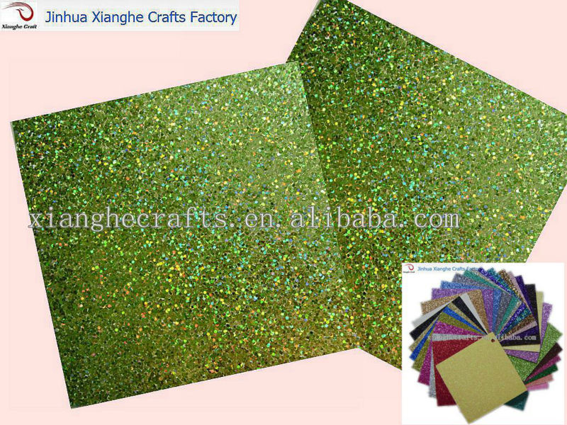 Green shinny glitter <strong>paper</strong> for scrapbook&DIY