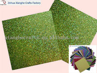 Green shinny glitter paper for scrapbook&DIY