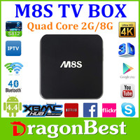 hot selling m8s andriod tv box Amlogic S812 Ram 2GB Rom 8GB Dual channel WIFI 2.4GHz/5.0GHz AP6330 smart tv box