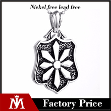 Wholesale Cheap Never Fade Sunflower Pendant With Stainless Steel Punk Charm Necklace