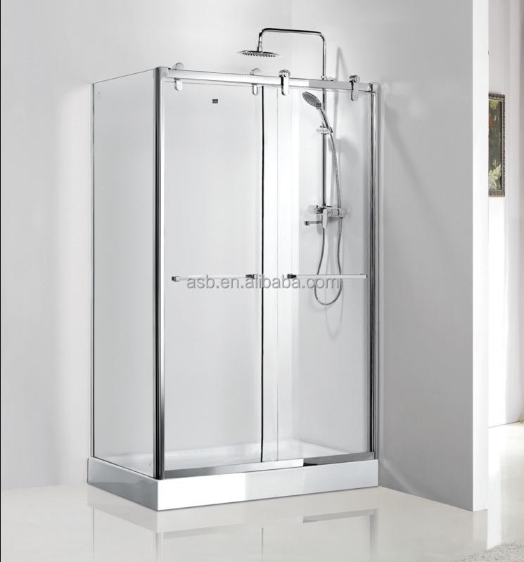 small bathrooms 8mm Tempered Glass prefab shower cubicle