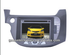 "7"" digital touch screen indash 2 din car GPS car dvd player with bluetooth TV steering control for new fit 2009"