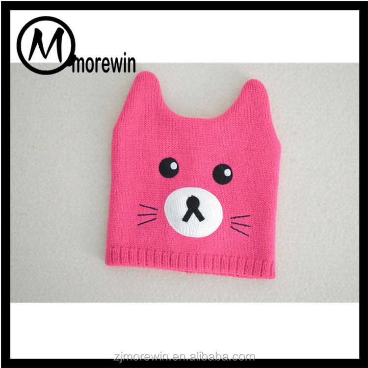 Morewin amazon supplier wholesale cute winter two small horn baby hats