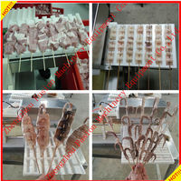 CHEAP PRICE cuttlefish wear string machine/chicken ball string machine /vegetable string machine