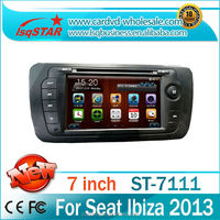 LSQStar 7'' Car radio for Seat Ibiza 2013 with Wince system Touch screen GPS Blue SWC Great fuction