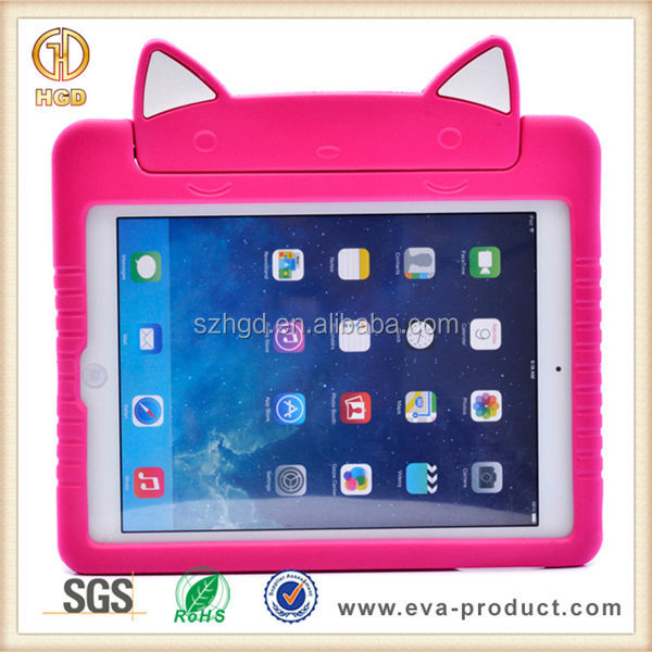 New Arrival lovely cat animal shaped OEM Fashion Cute Case for iPad Air
