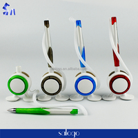 two legs sping chain counter gift plastic stand ball pen