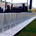 Factory providing foldable temporary concert crowd control barrier/mojo barriers