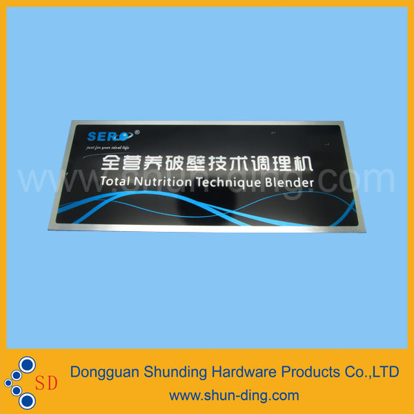 profession custom metal printing faceplate for machine