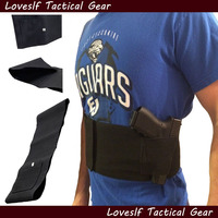 Adjustable Belly Band Tactical Waist Pistol Gun Holster With 2 MAG POUCHES Tactical Gun Holster